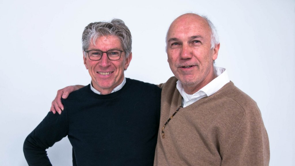 De ondernemers Jeroen Harinck (links) en Arjen Pels Rijcken.