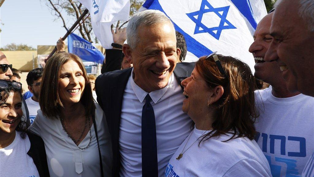 Benny Gantz, de uitdager van Netanyahu.