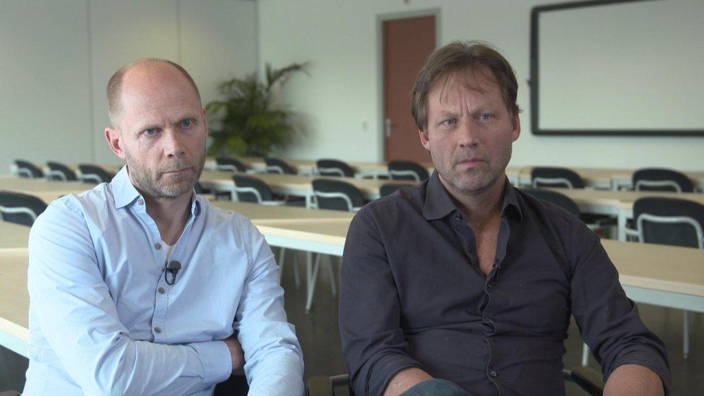 De broers Hans en Wim Faber