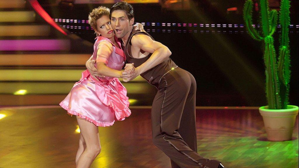 Sylvie en Christian tijdens hun deelname aan Let's Dance