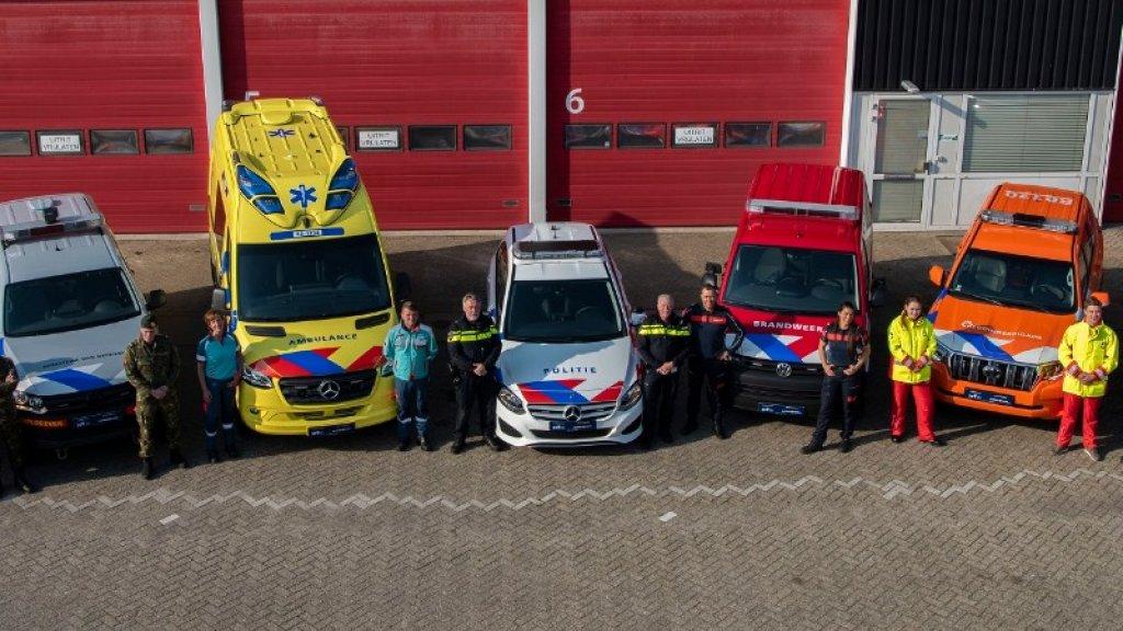 Ook is er een nieuw uiterlijk voor brandweerwagens, ambulances, de reddingsbrigade, de veiligheidsregio's en Defensie.