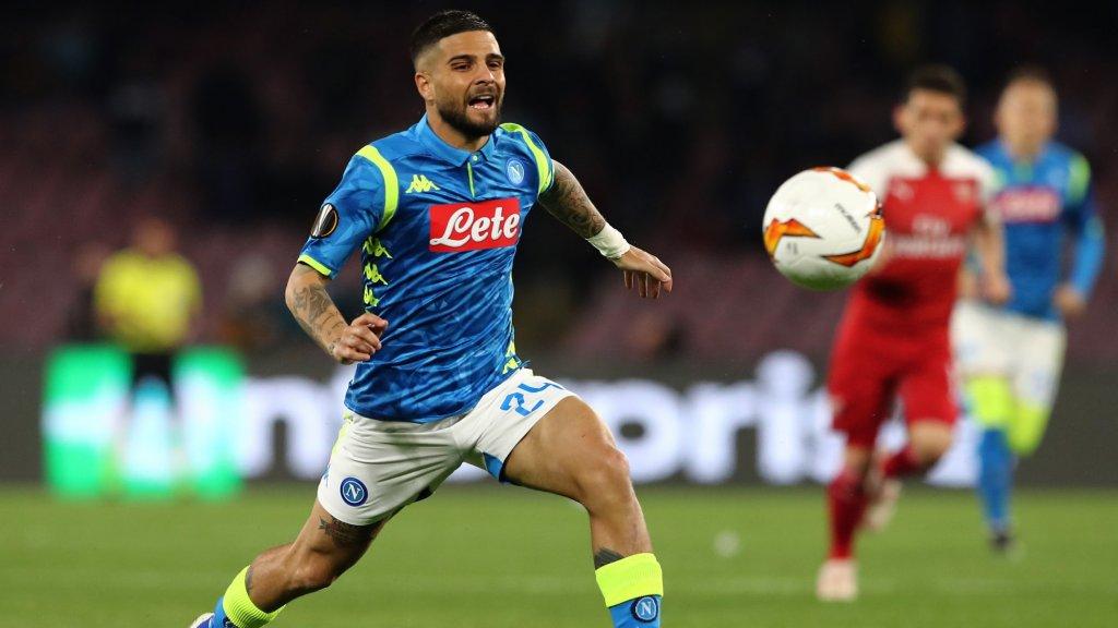 Lorenzo Insigne nam het afgelopen week met Napoli op tegen Arsenal in de kwartfinale van de Europa League.