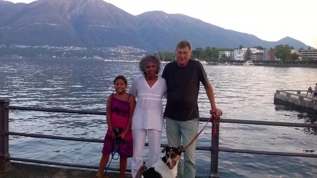 Rebecca met haar partner Ernst en dochter Anuschka. Alle drie kwamen ze om in het Cinnamon Grand Hotel in Colombo.