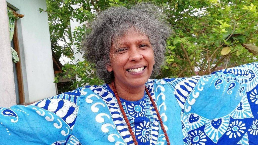 Rebecca was gelukkig in Sri Lanka.