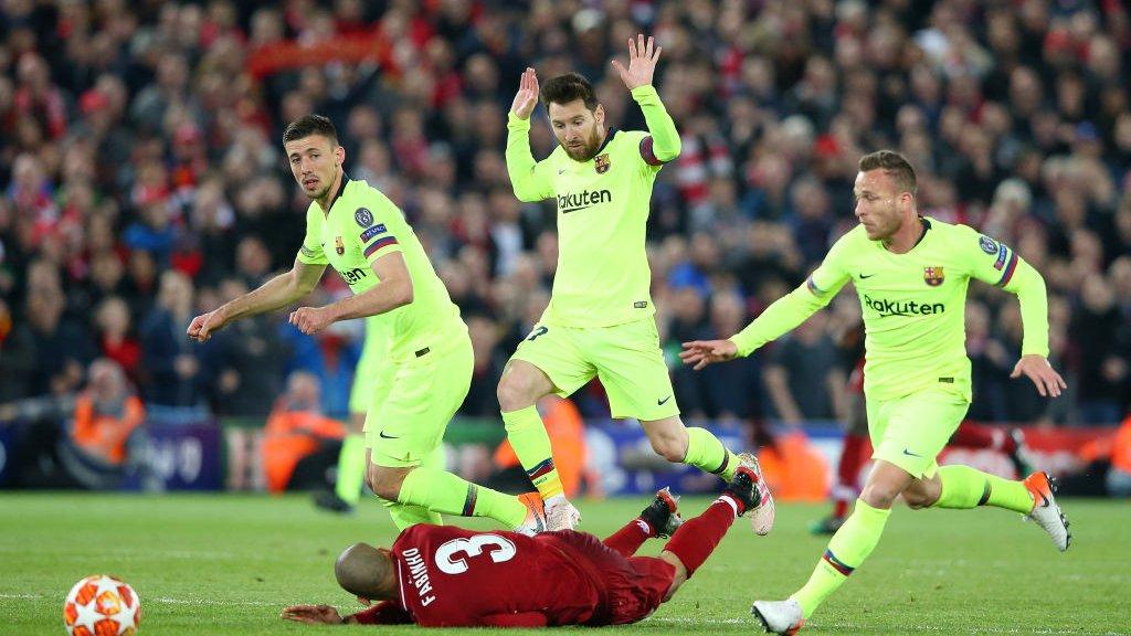 Barcelona verloor gisteren de halve finale van Liverpool.