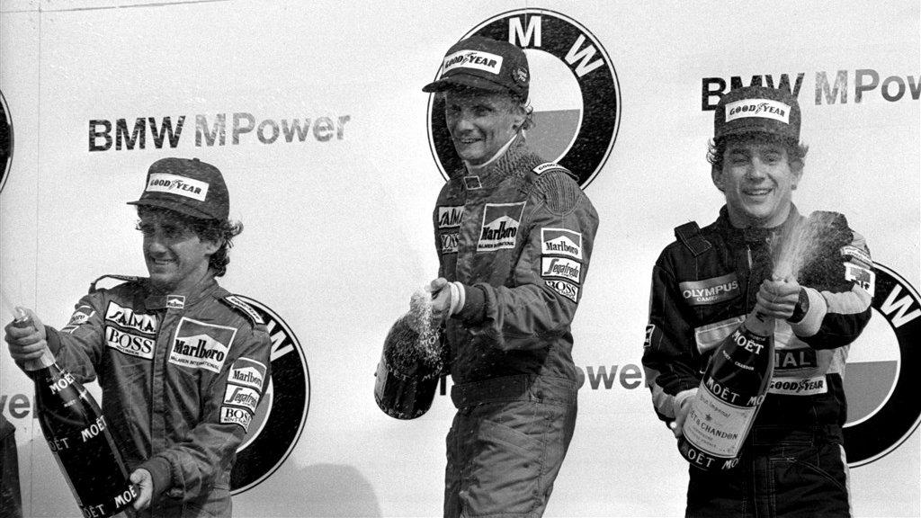 Niki Lauda wint op 25 augustus 1985 de laatste Grand Prix van Zandvoort.