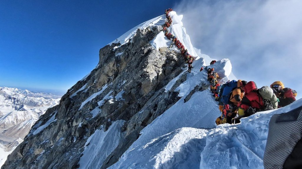 File op de Mount Everest.