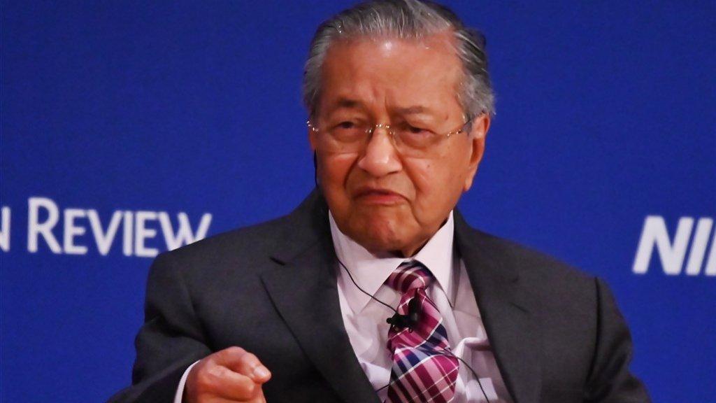 Premier Mahatir van Maleisië