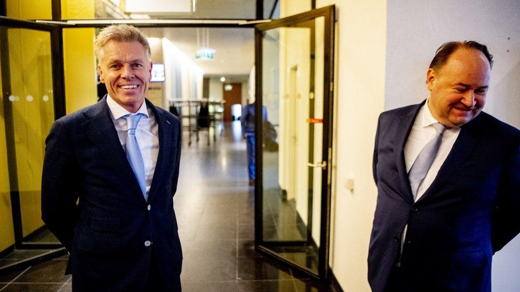 Rob Roos (l) samen met Forum-politicus Henk Otten.