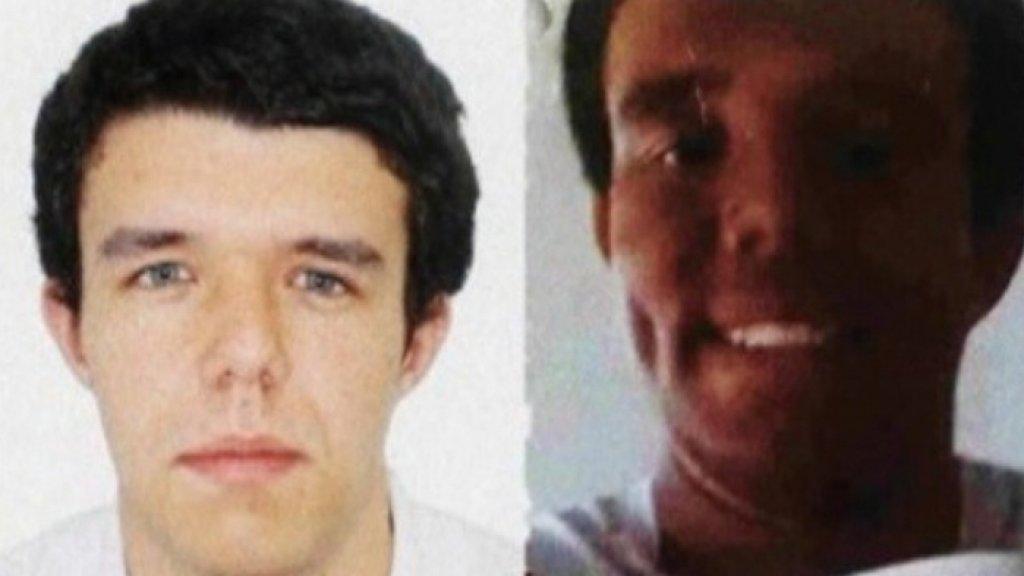 Lucas Soares Fontes. Links zijn pasfoto, rechts de foto die hij opstuurde naar de selectiecommissie.