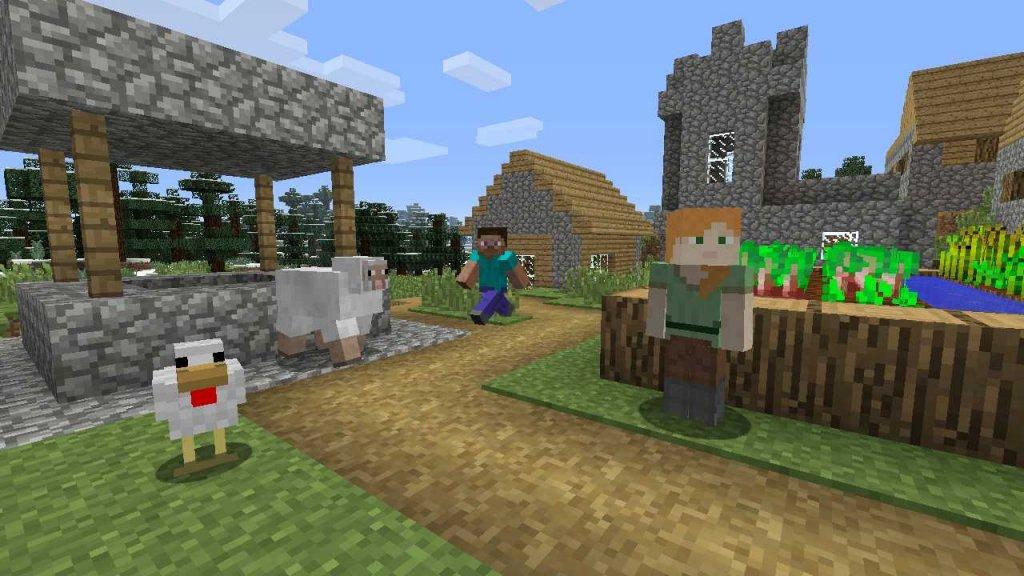 Minecraft is ook een populaire game onder kinderen.