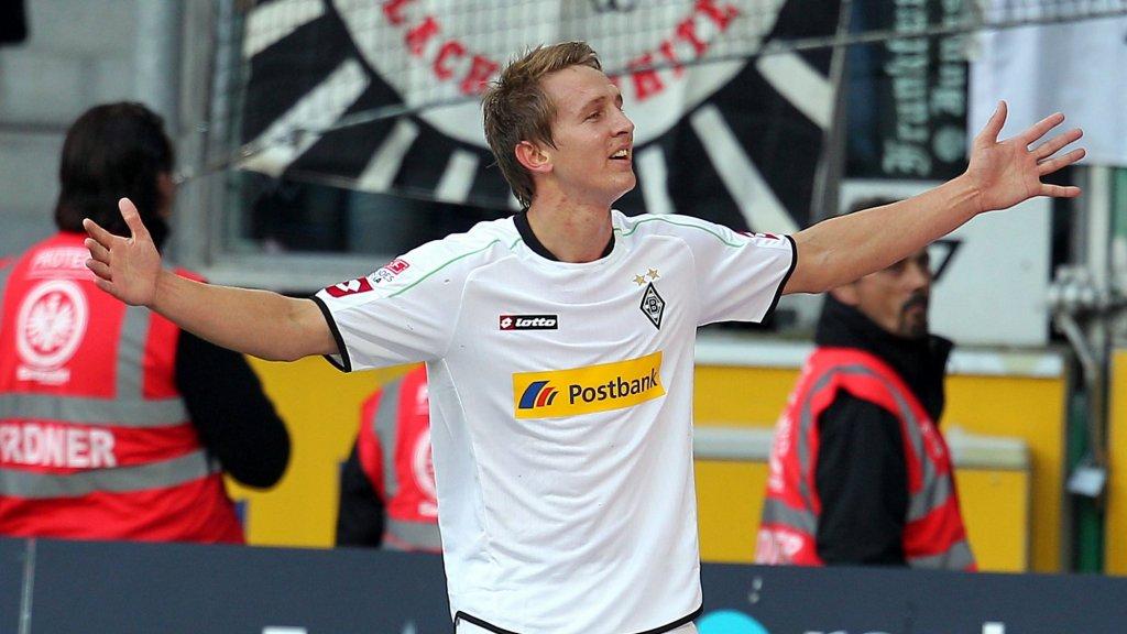 De Jong in het shirt van Borussia Mönchengladbach