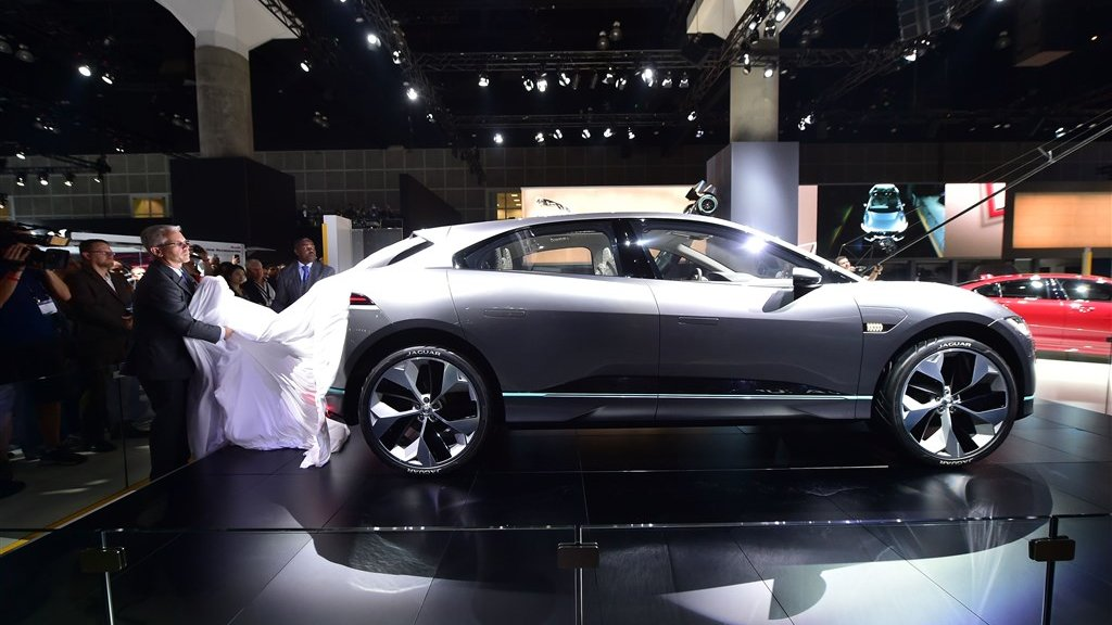 De onthulling van de volledig elektrische Jaguar I-Pace eind 2016.