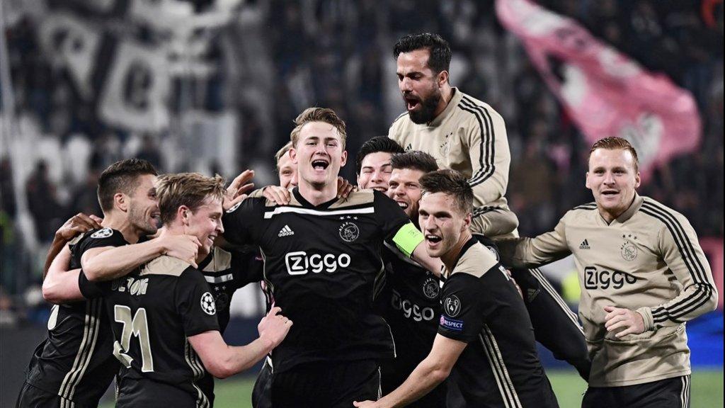 Ajax in de Champions League tegen Juventus.