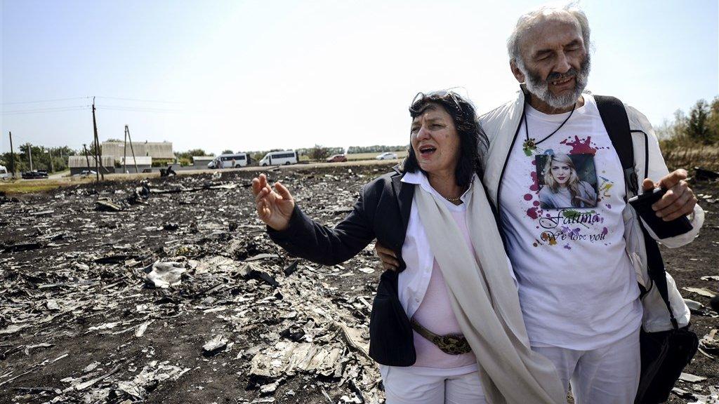 Fatima's ouders, Angela Rudhart-Dyczynski en Jerzy Dyczynski, bezochten vrij snel na het neerhalen van MH17 de rampplek in Oekraïne.