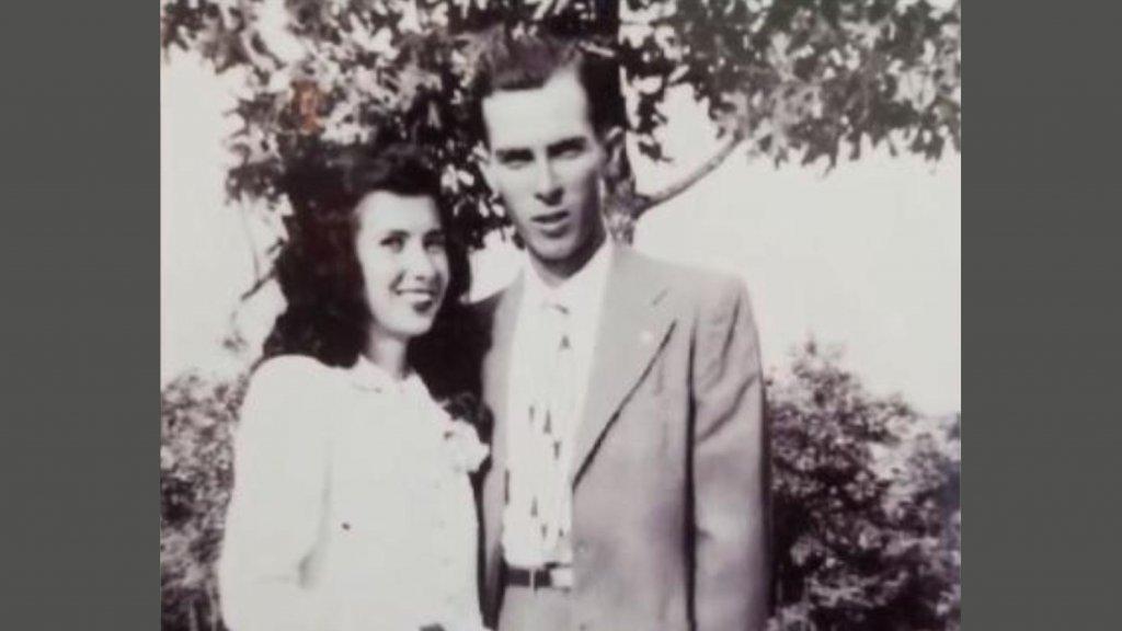 Herbert en Frances op hun trouwdag.