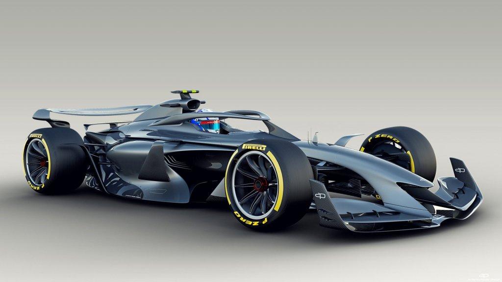 Een eerder vrijgegeven concept van de F1-auto van de toekomst