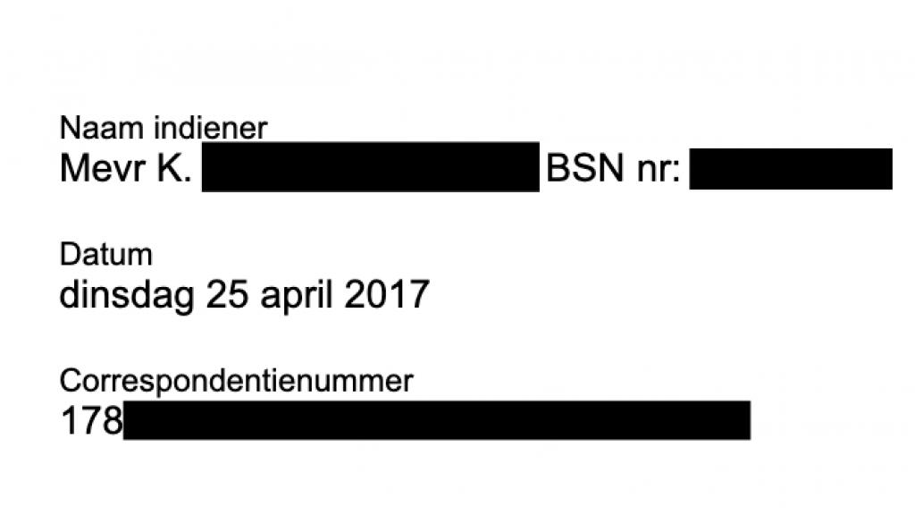 De documenten bevatten ook burgerservicenummers.