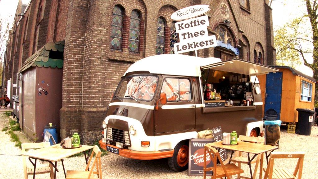Roastbeans op een festival in Ruigoord