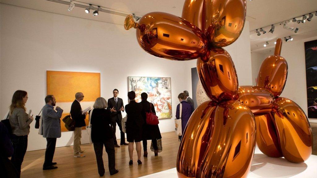 Veilinghuis Christie's verdiende nauwelijks iets aan de miljoenenverkoop van het kunstwerk Balloon Dog van Jeff Koons.