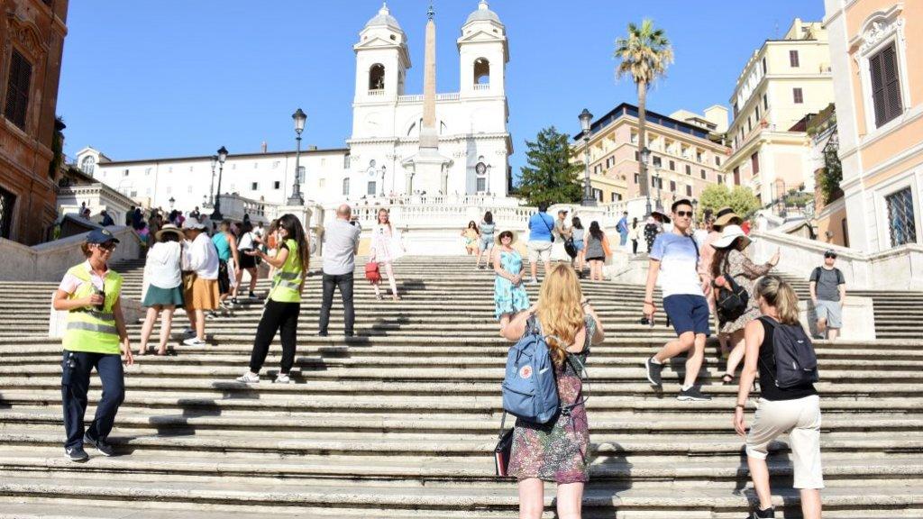 De Spaanse Trappen in Rome.