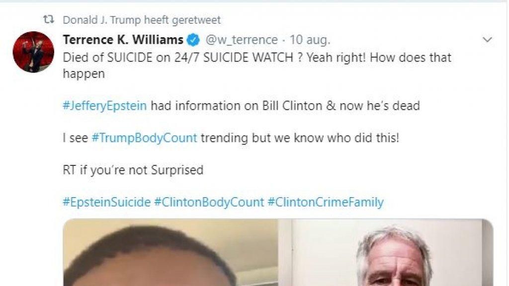 De retweet van Trump.