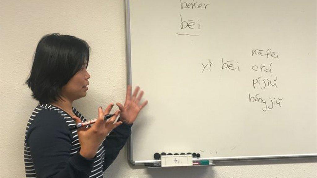 Een docent van  Regina Coeli in Vught.