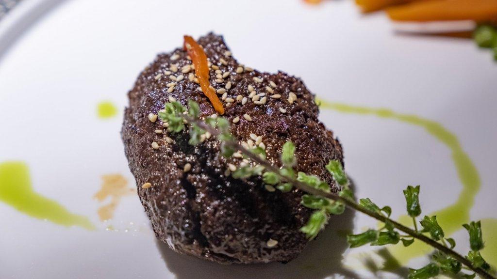Biefstuk, gemaakt van champignons