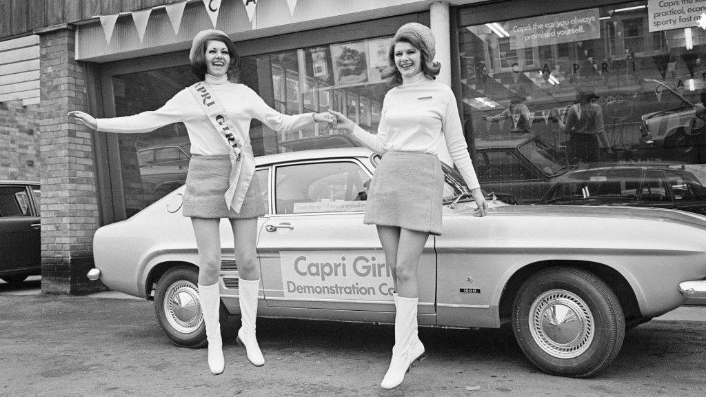 Het minirokje was mode in de jaren 60.