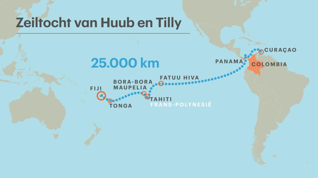 Tilly en Huub legden samen ruim 25.000 kilometer af.