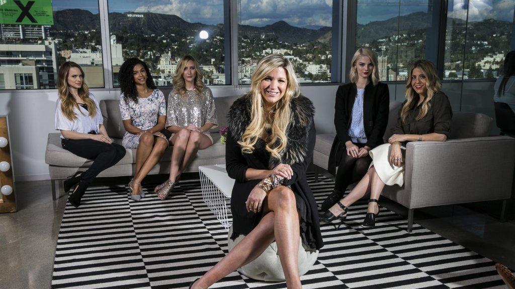 Stylehaul-oprichter Stephanie Horbaczewski (vooraan) met enkele van haar YouTubers.