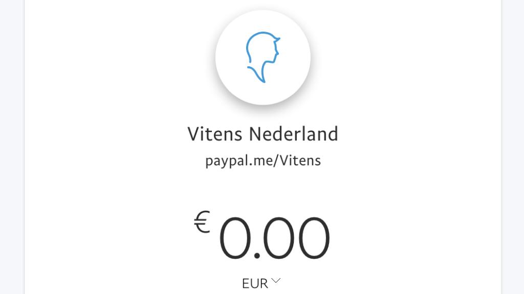 Het PayPal-account dat wordt gebruikt voor de fraude.