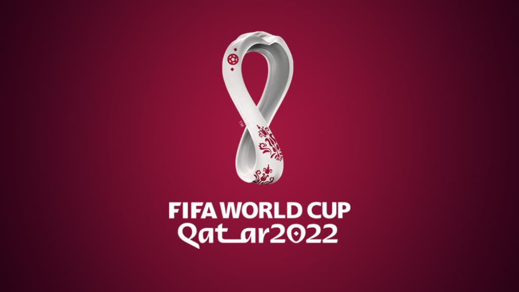 Het logo voor het WK 2022 in Qatar
