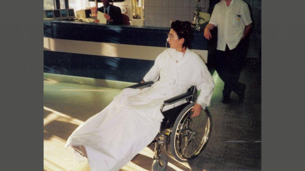 Patricia in het ziekenhuis.