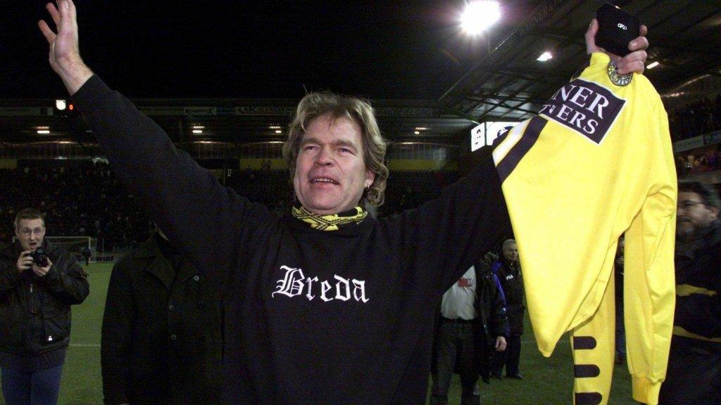 Ruud in het NAC-stadion van Breda.