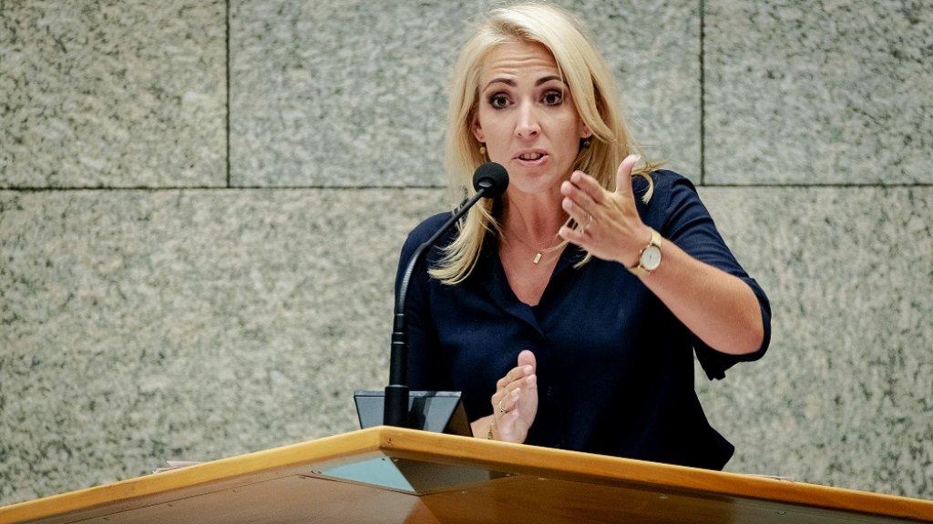 Lilian Marijnissen (SP) tijdens het debat.