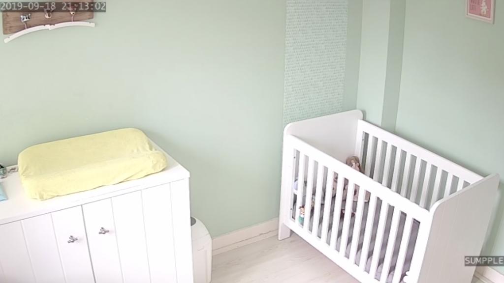 Het beeld van een babykamer, geplaatst met toestemming van de eigenaar.