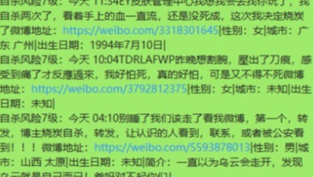 Eén van de vele Chinese berichten die Zhisheng en zijn collega's moeten analyseren.