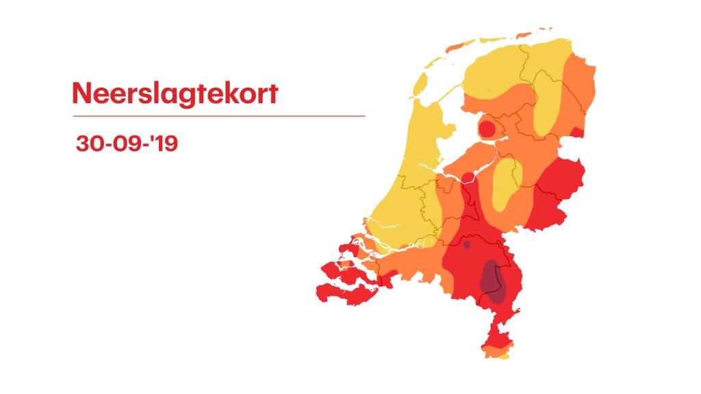 Het neerslagtekort in heel Nederland