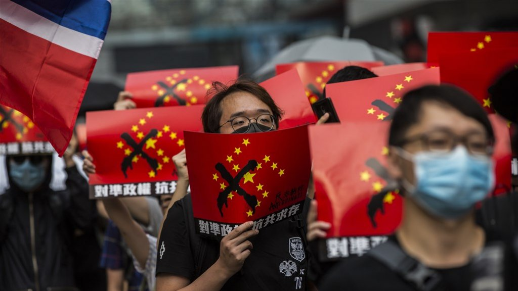 Anti-China-protesten in Hongkong.