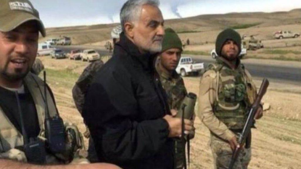 Generaal Soleimani aan het front.