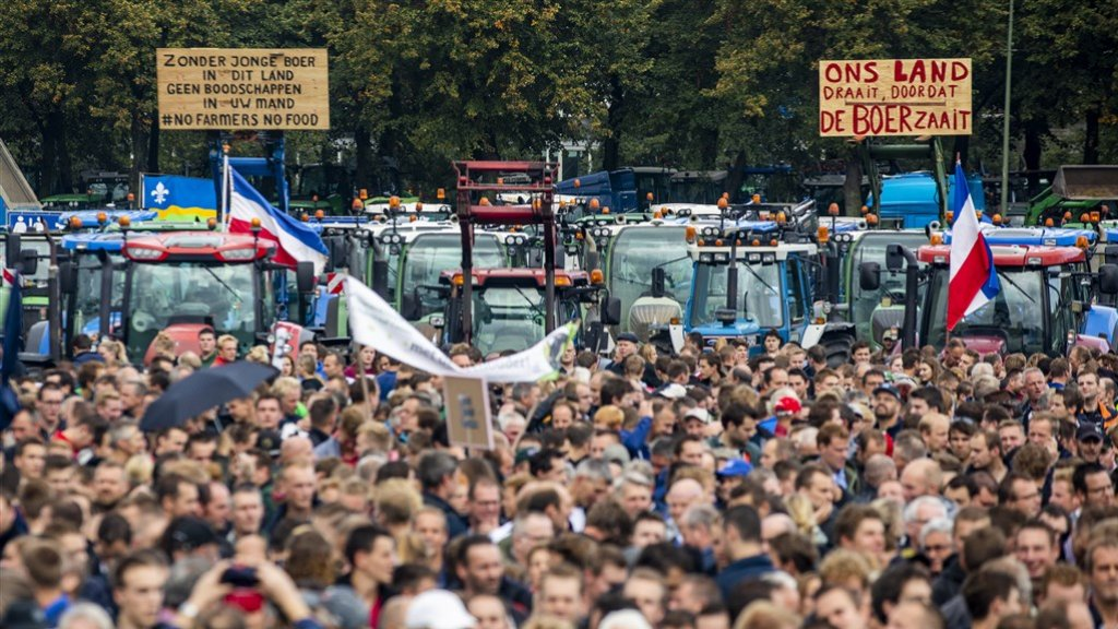 Het boerenprotest van 1 oktober.