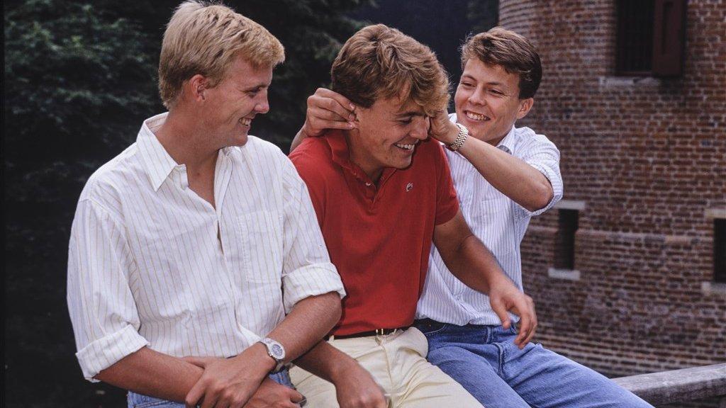 De drie broers Willem-Alexander, Friso en Constantijn.