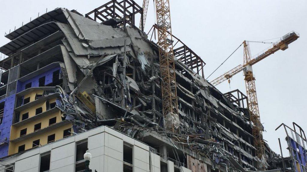 Een deel van het Hard Rock Hotel in New Orleans is ingestort.