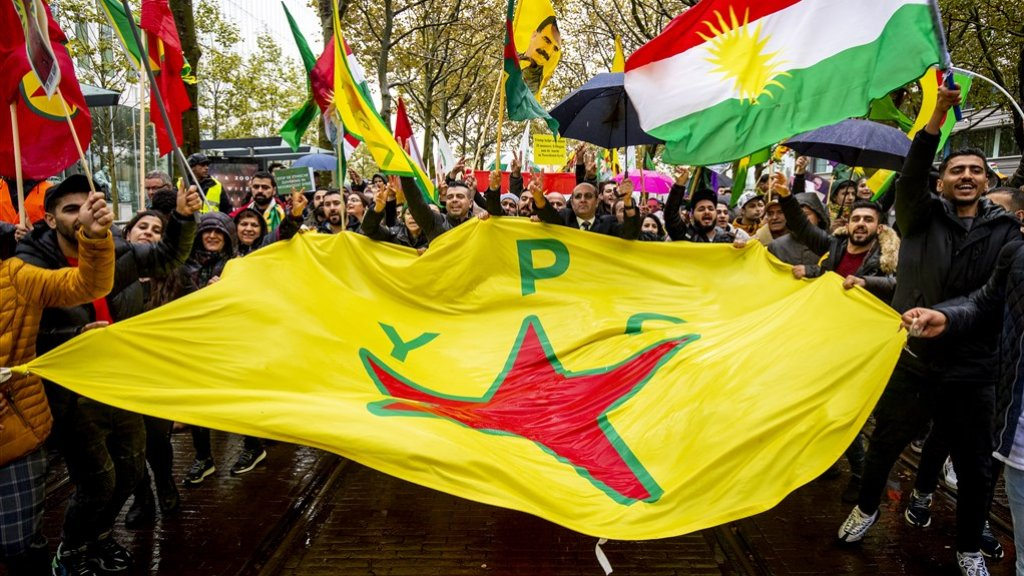 Ook in Nederland demonstreerden Koerden om aandacht te vragen voor de Turkse aanval in Noord-Syrië