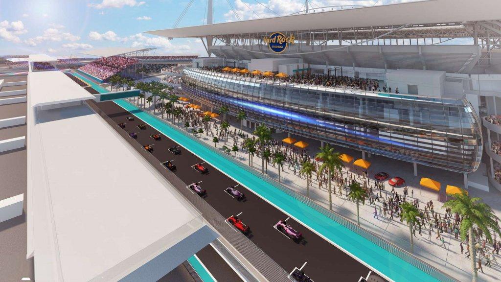 Zo moet de GP van Miami bij het Hard Rock Stadium eruit komen te zien