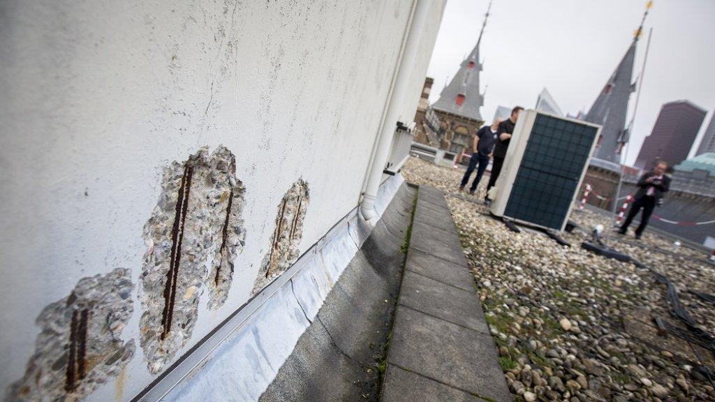 Achterstallig onderhoud bij het Binnenhof-complex