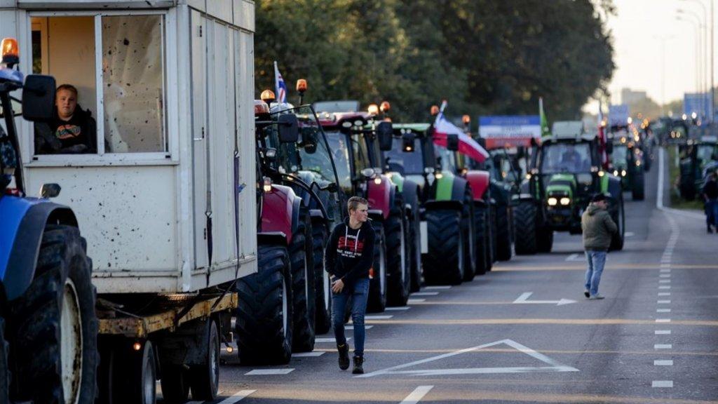 Drukte rond De Bilt door protesterende boeren