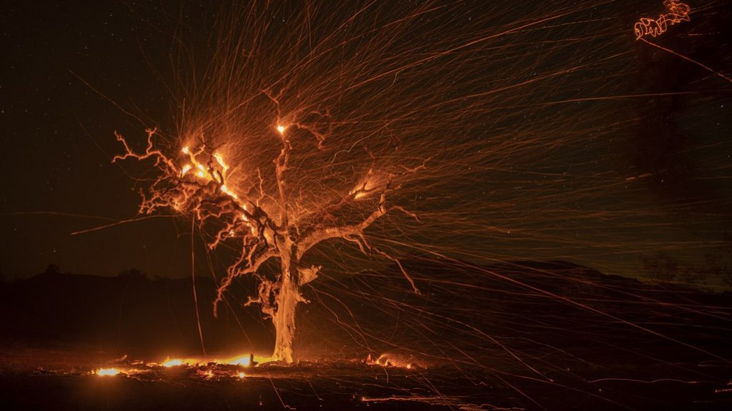 Sinds afgelopen weken hebben al duizenden mensen moeten vluchten voor de bosbranden.