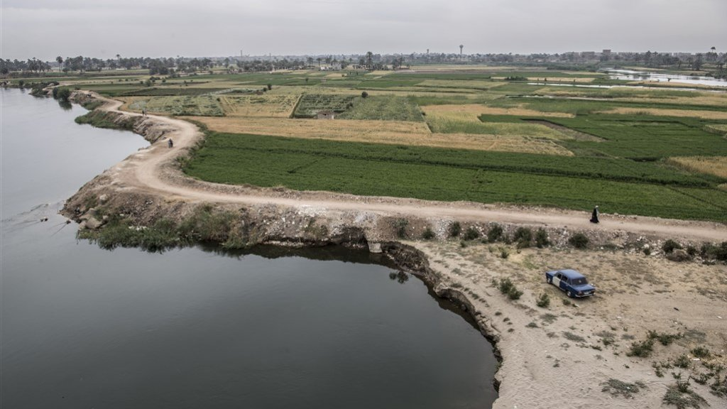 Landbouw in Egypte kan alleen langs de Nijl
